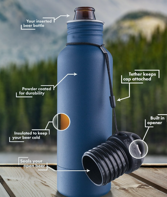 BOTTLEKEEPER - Because colder beer is better. Okay. This is just freakin' cool. Nuff said.$35-40 (varies on style)