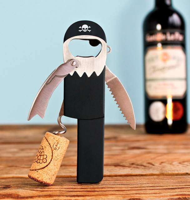PIRATE WINE OPENER! - Yes, it IS the little things in life. $11