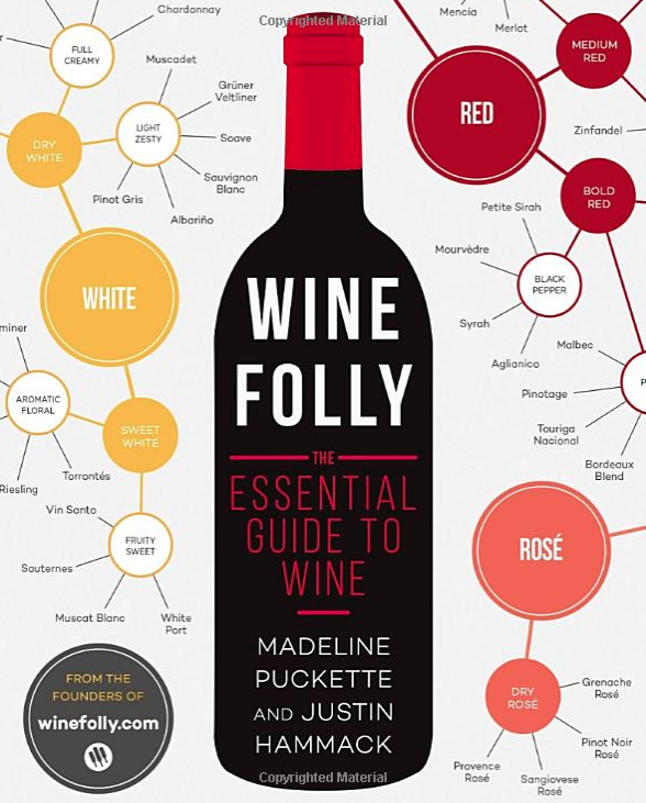 WINE FOLLY: THE ESSENTIAL GUIDE TO WINE - This is my favorite book for those who want to know more about wine! I'm pretty sure it's... probably the greatest freakin' book in the entire world for that. Seriously, I'm not kidding. I've ranted about this book to too many, and have learned so much from it. It's the wine book that's fun and super informative without being snobby and buried in words you don't understand. With it's great layout with fun graphics and witty remarks, you're all set to take on the wine world with a head full of knowledge. $15Psst. Also if you're geeked out on the Somm documentaries on Netflix, the author is in the second one: Somm: Into The Bottle. She's delightful.