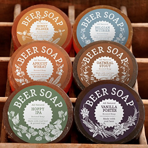BEER SOAP! (6 PACK) - Aaawesome soap that smells gooood. I know the thought of washing with beer sounds pretty gross, but these all natural soaps smell wonderful!