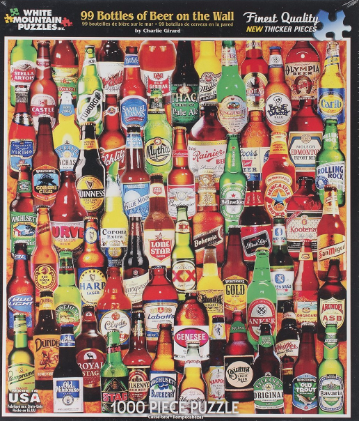 99 Bottles of Beer on The Wall PUZZLE - 1000 piece puzzle! Bring it on world! (Strongly encouraged as a group activity accompanied with beer)$18
