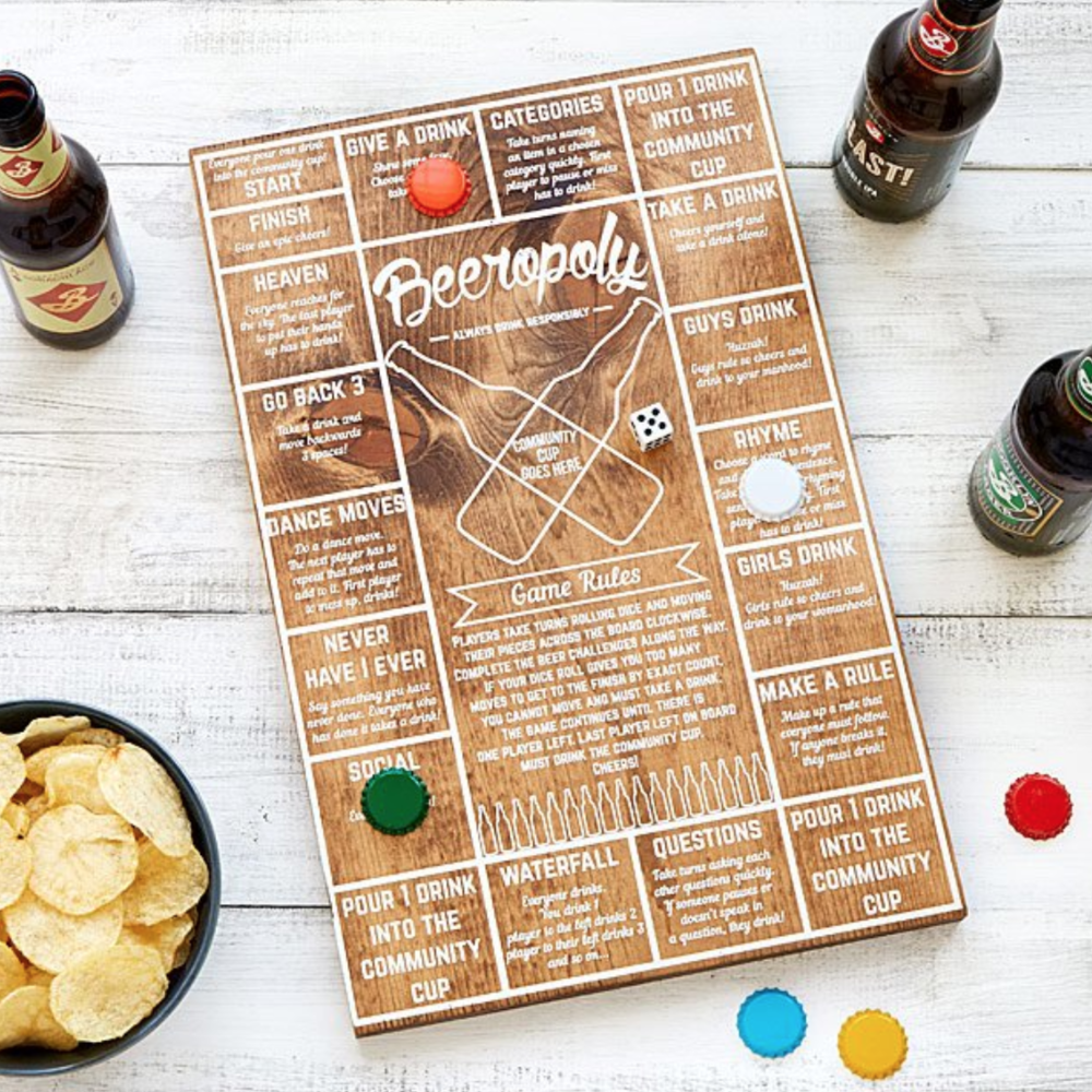 TIME TO PLAY: BEEROPOLY! - For board game lovers and beer loves–here's a gem to have at home for parties. I mean, I guess you could play this game with other beverages…but it is called Beerology for a reason…$35
