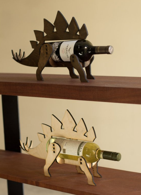 Wine-o-saurus! - If you're going to display your wines…you might as well do it in style. These awesome dinosaur (don't worry, there are other dino options too) wine holders bring a smile to my face…and I'm sure yours as well.$40