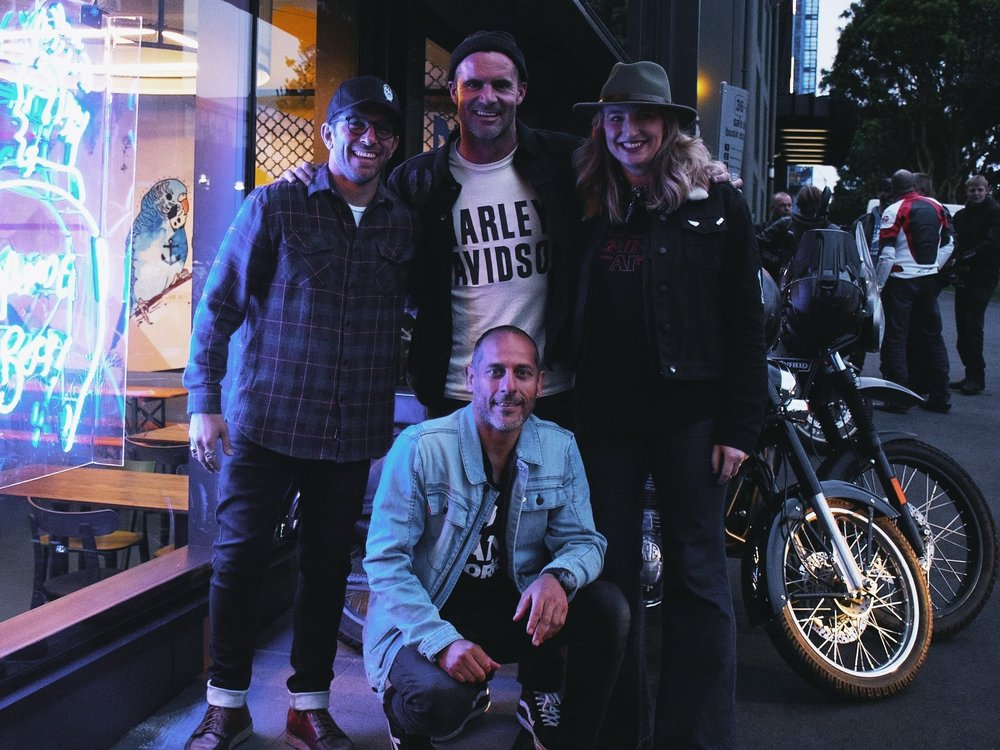 Jared (Left), Jay (MiddleTop),  Lissy (Right) & Danilo (MiddleBottom) | TheMotoSocialAUCKLAND