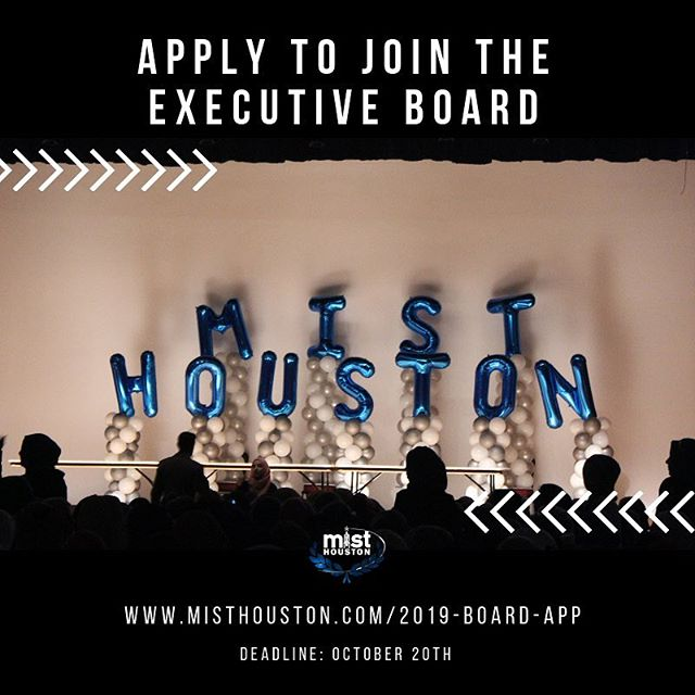Long time no see!! But we're back, and getting ready to gear up for MIST Regionals 2019!!! Board applications are officially open. Go on to our website to apply to join the executive board for this year!  Link in bio #misthouston2019