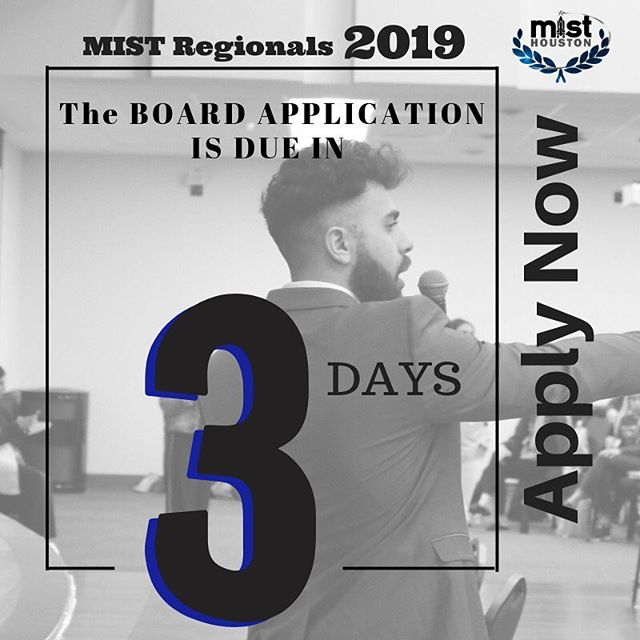 If you wanted to apply to be on the MIST board 2019, it's NOT too late! Apply now at: misthouston.com/2019-board-app #misthouston2019