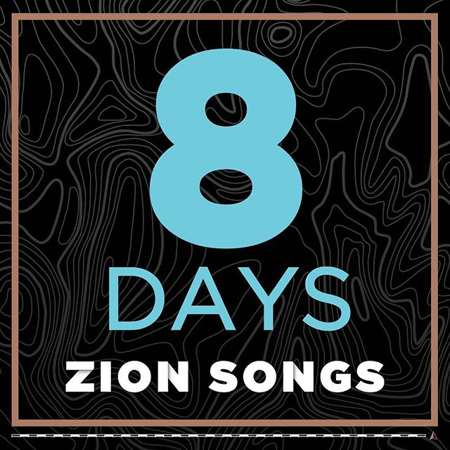 Yesterday means that we're 8 days away from the release of Zion Songs!