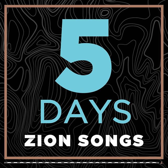 5 days until we release Zion Songs! Get excited.