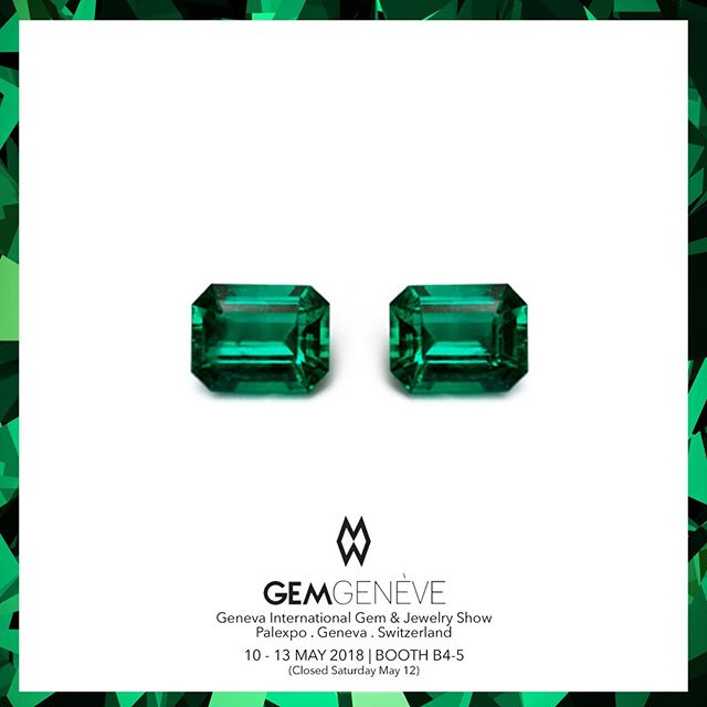 Beautiful Pair Of Fine Colombian Emerald Cuts | Looking Forward To Seeing You In Geneva This Week! Booth B4-5 | May 10-13 #GemGeneve2018 #GemGeneve #BestInTheWorld #OnlyAtJosephGad #Emeralds #Colombian #ColombianEmerald #VividGreen #Certified #FineGems #Emerald #Luxury #Jewelry #FineJewelry #HighFashion #HighJewelry #HauteCouture #HauteJoaillerie #Fashion #Jewelry #JosephGad #PreciousGems #TheMostAmazingEmeraldsInTheWorld #KingOfEmeralds