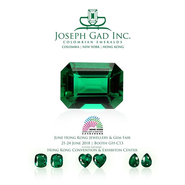 We're In Hong Kong! | 21-24 June 2018 | Booth GH-C13 Hong Kong Convention & Exhibition Center | See You There!  #Emeralds #Colombian #RoundEmeralds #AllShapes #AllSizes #ColombianEmerald #VividGreen #Certified #FineGems #Emerald #Luxury #Jewelry #FineJewelry #HighFashion #HighJewelry #HauteCouture #HauteJoaillerie #Fashion #Jewelry #JosephGad #PreciousGems #TheMostAmazingEmeraldsInTheWorld #KingOfEmeralds