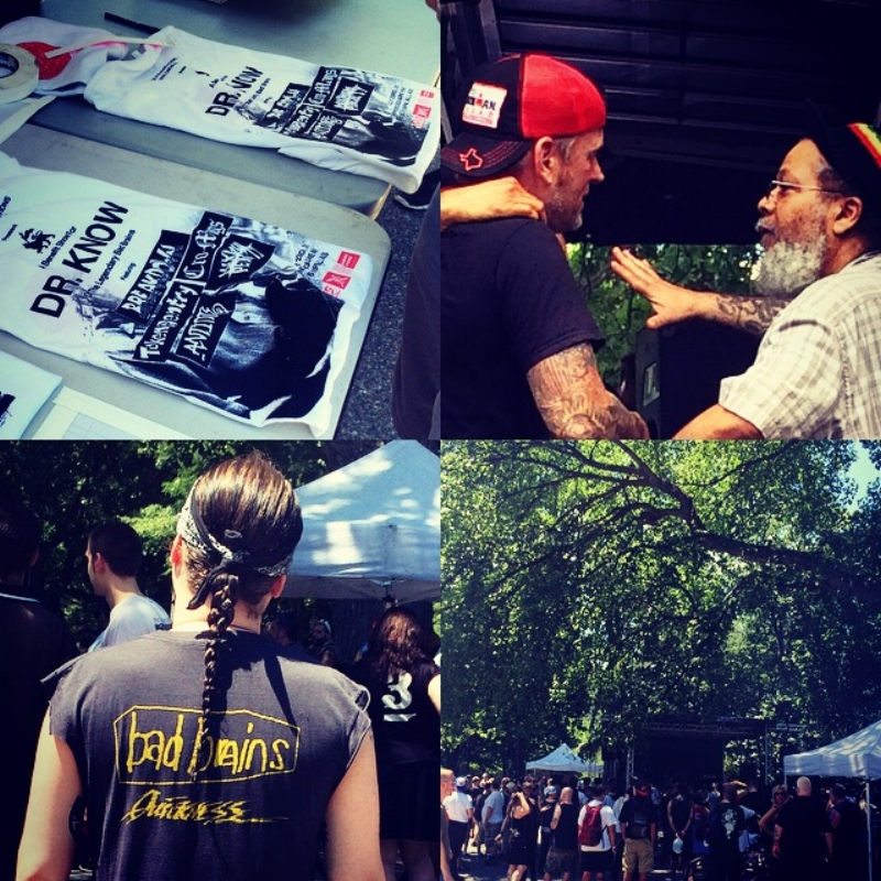 Dr. Know! - JULY 23RD, 2016 - Even though the temp topped out at 96 degrees in NYC today, thousands of fans turned up to Tompkins Square Park to support Dr. Know and watch some OG NYC hardcore. The sun was out but the bands were blistering! We saw so many old school and new school Bad Brains T's being repped out there, it was awesome to see everybody coming together to show love for Doc. Congrats to all the bands and organizers that made it happen!! You can still donate here:www.gofundme.com/drknowbadbrains