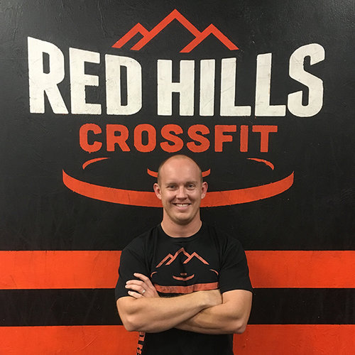 TRAVIS PERKINS - Travis is the Head Trainer and Owner at Red Hills. He's been doing CrossFit since 2008 and has his Level 1 & 2 certification. He's also received certification for CrossFit competitors course, US army fitness instructor, Military Combat Life Saver Course, CPR certified, Camargo Olympic Lifting, and Pendlay Level 1 & 2. Travis is a former runner and recreational Tri-athlete.