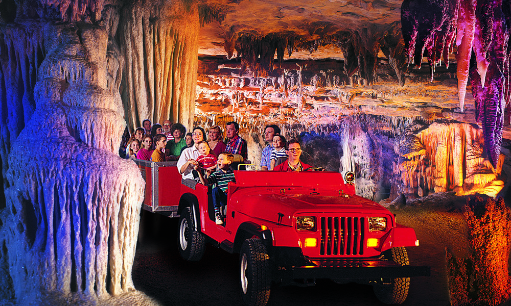 Take a guided tram tour of Fantastic Caverns - the only drive-through cave in America - just outside of Bolivar.
