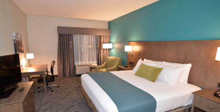 Relax in a comfortable room at the recently opened Best Western Plus Bolivar Hotel and Suites.