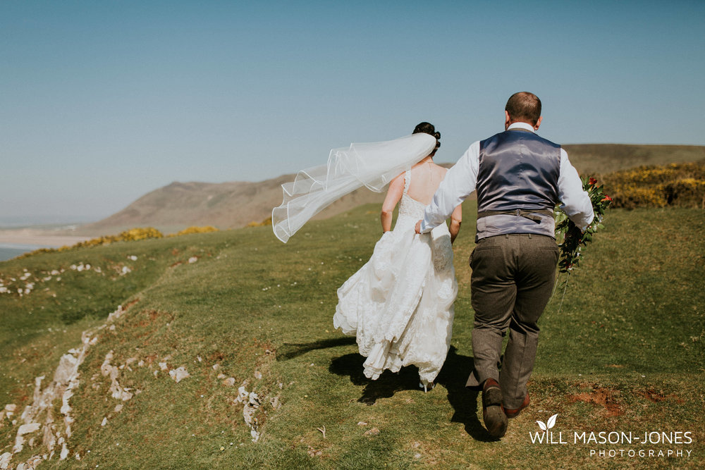 king arthur hotel gower swansea wedding photographer rhossili cliffs