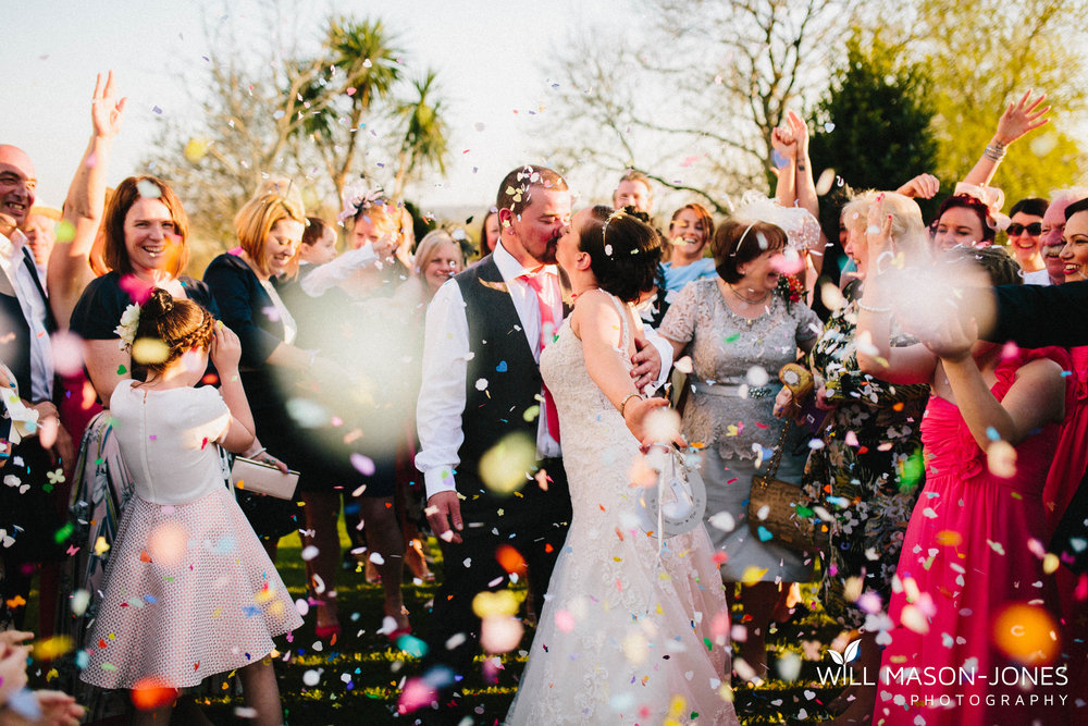 king arthur hotel gower swansea wedding photographer confetti