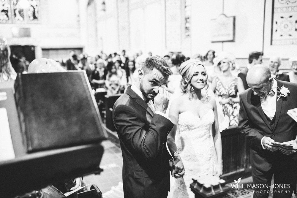fun relaxed natural church wedding photographer Swansea