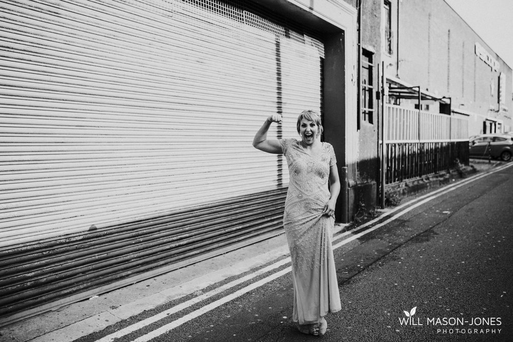 Swansea alternative urban wedding photography
