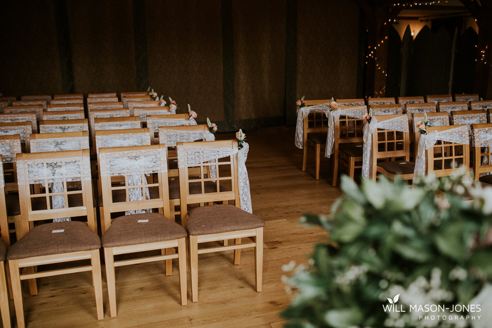 The king arthur hotel swansea gower wedding venue decorations ceremony room