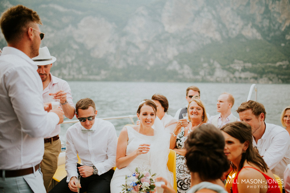 lake garda weddings boat trip after malcesine wedding