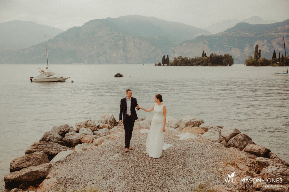 la voglia lake garda italy wedding reception jetty party