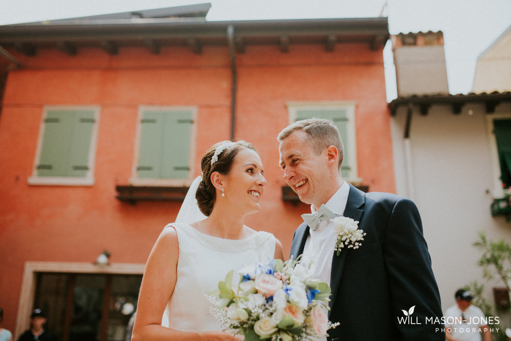 Malcesine lake garda italy wedding party