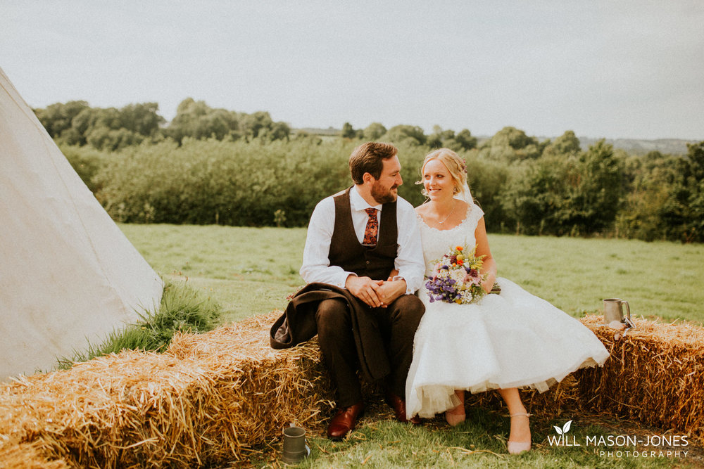 pen y banc farm couple portraits tipi wedding photography