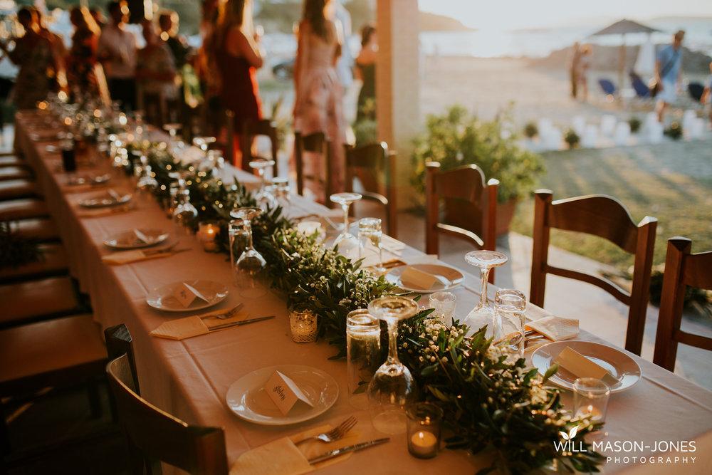 greek beach destination wedding corfu evening reception dancefloor fun photography