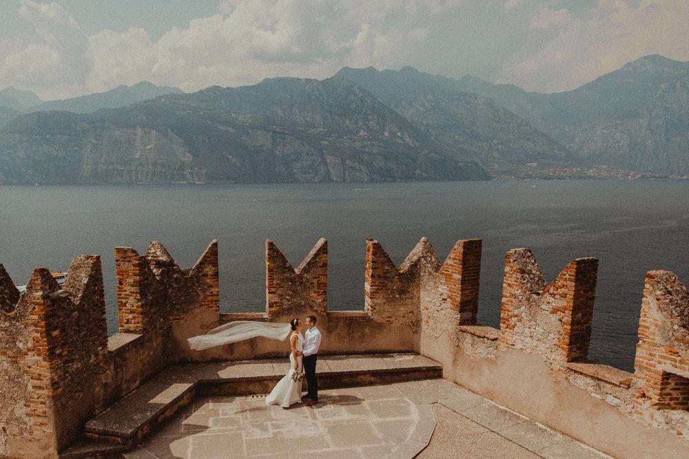 Malcesine Castle Wedding - Lake Garda, Italy