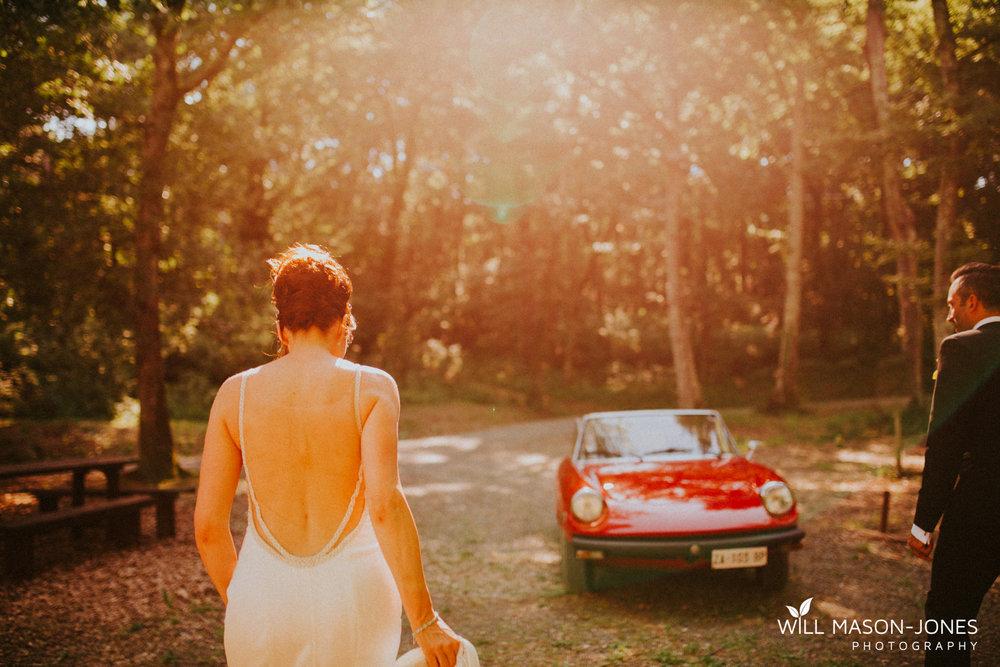 Borgo Il Castagno tuscany Italy villa destination wedding couple portraits vintage car
