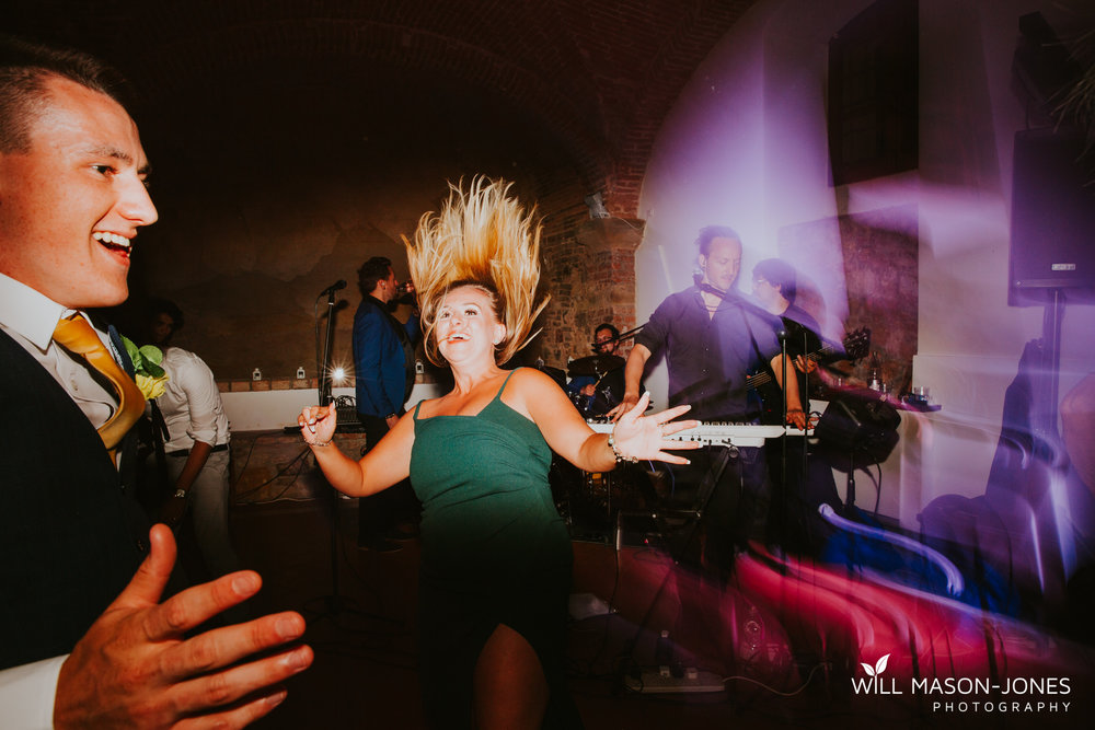 Borgo Il Castagno tuscany Italy villa destination wedding evening reception dancefloor photography