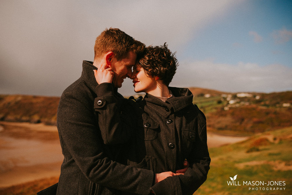 three cliffs bay swansea pre wedding couple photography earthy colourful relaxed photographer