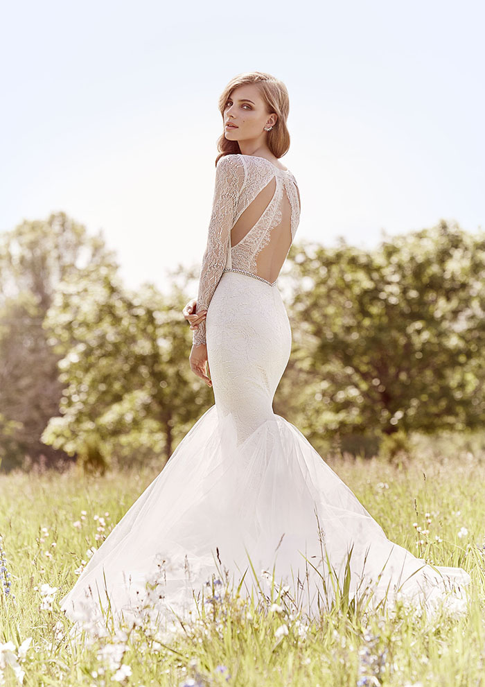 Jim Hjelm by Hayley Paige Open Back Lace Wedding Dress