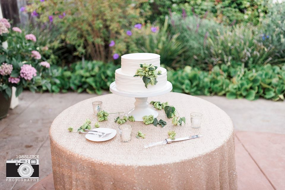 Hops and Sequins for a Fun Garden Party Wedding