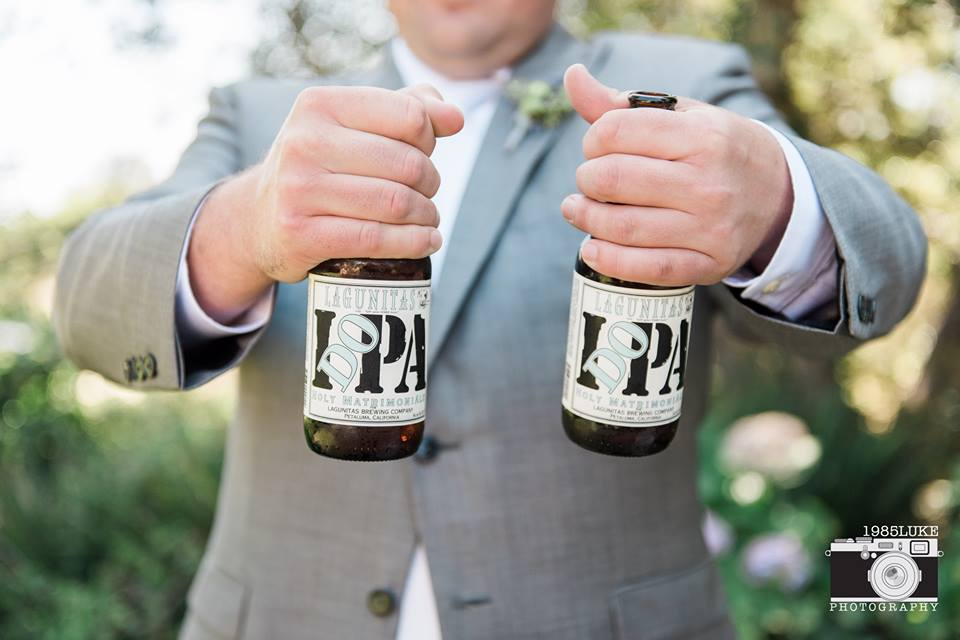 I DO IPA from Lagunitas for a Sparkles and Beer Themed Wedding