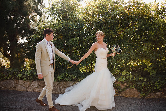 Lace and Mermaid Ruffled Wedding Dress for a Chic California Wedding