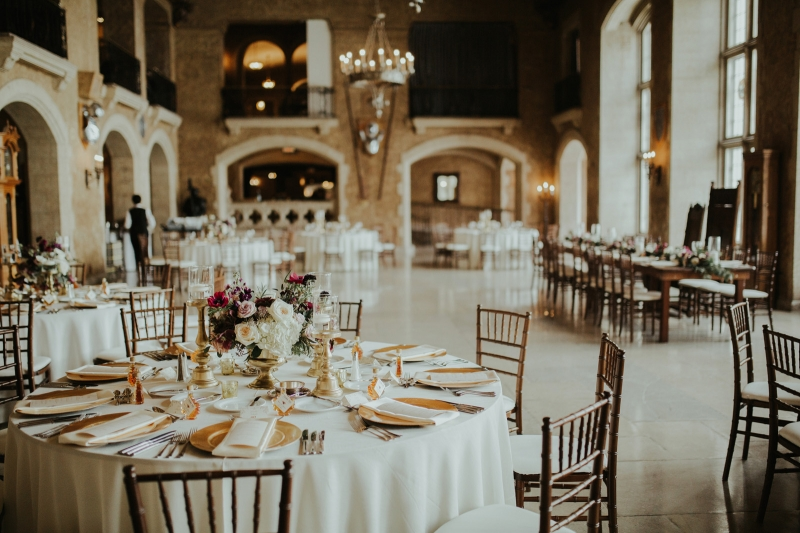 Beauty and the Beast Inspired Wedding Reception
