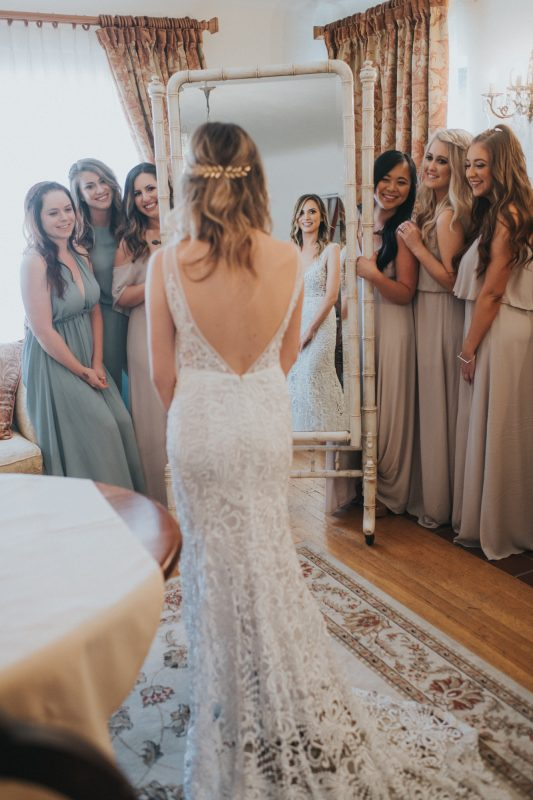 Gorgeous Getting Ready Photo with the Bride and Bridesmaids