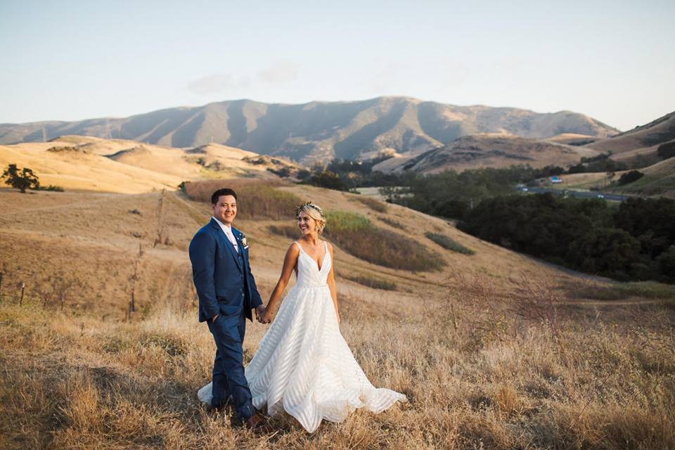 Rustic Ranch Wedding with a Striped Wedding Dress