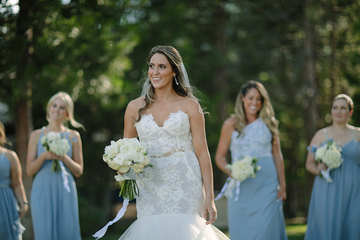 Convertible Strapless Lace Mermaid Wedding Dress for a Tahoe Destination Wedding