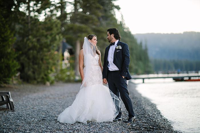 Summer Lake Tahoe Wedding