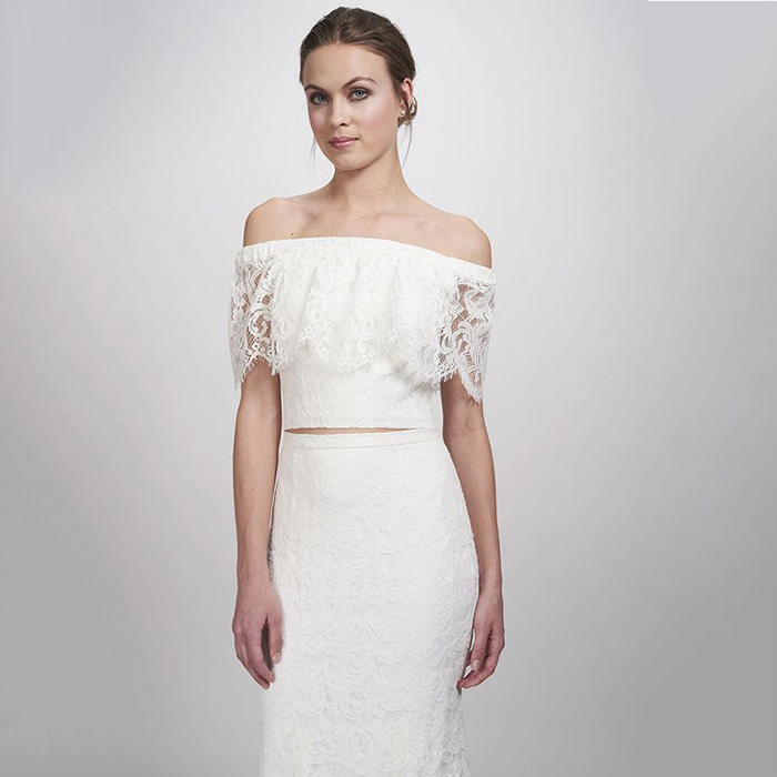 Theia Bridal Lanie Lace Top