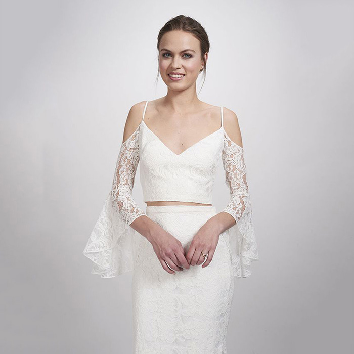 Theia Bridal Mariel Lace Top
