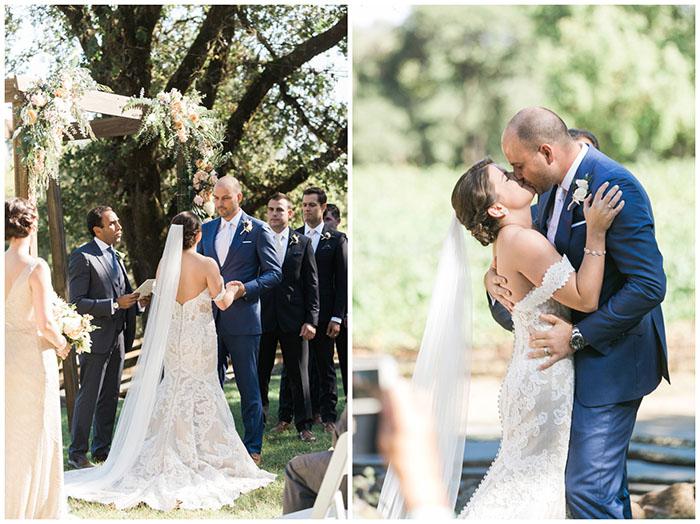 Romantic Wine Country Wedding Ceremony