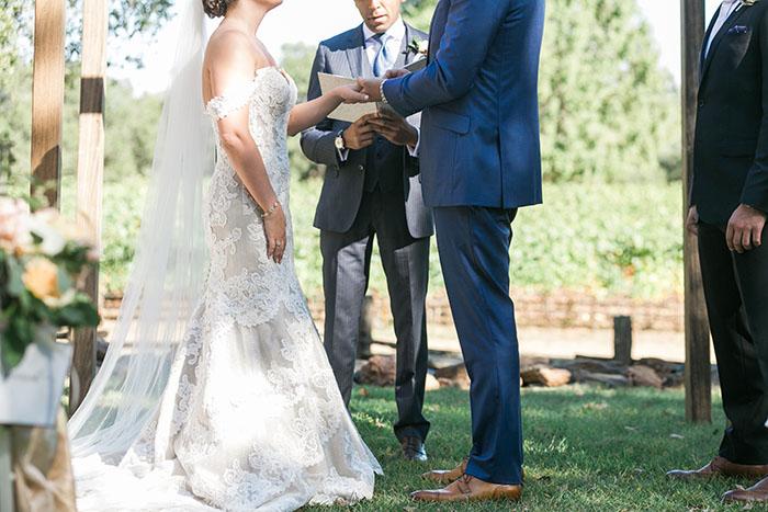 Gorgeous Mocha Lace Matthew Christopher Wedding Dress