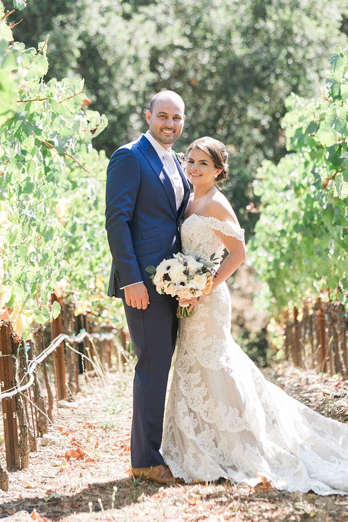 Romantic Winery Wedding with a Lace Matthew Christopher Wedding Dress