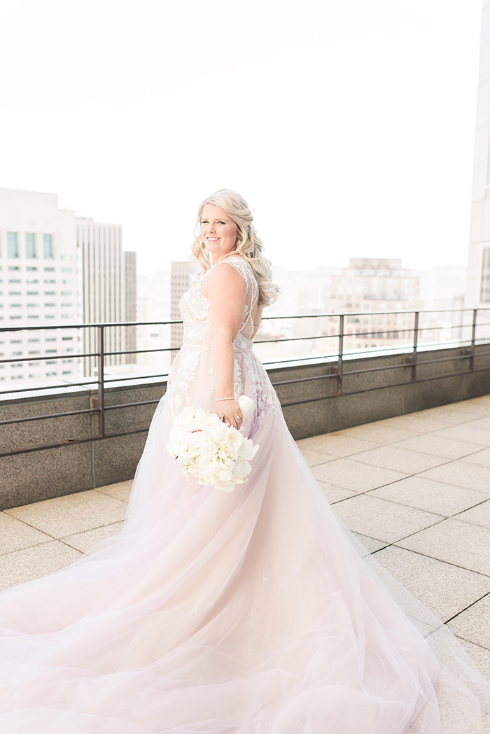 Whimsical Glam Real Bride in Hayley Paige