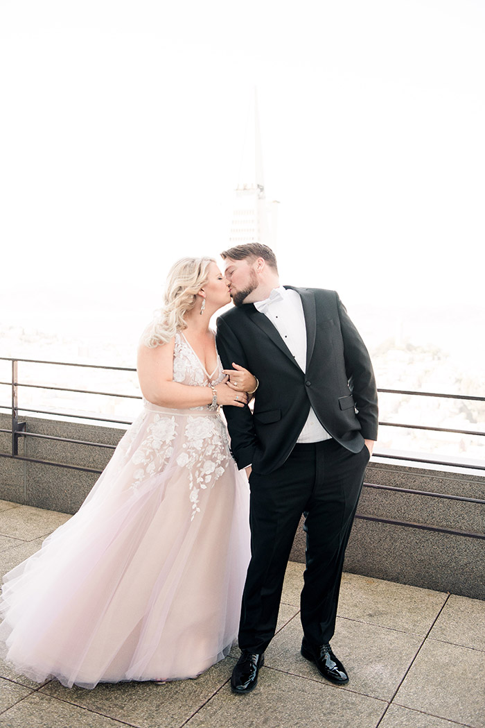 Stylish Black Tie Wedding with a View of the San Francisco Skyline
