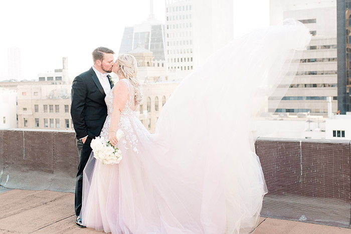 Stunning SF City Wedding with a Bride in Hayley Paige