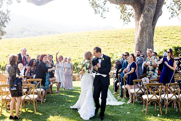 Romantic Winery Wedding Ceremony